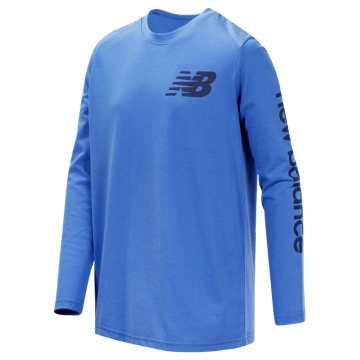New Balance Long Sleeve Graphic Tee, Lapis Blue