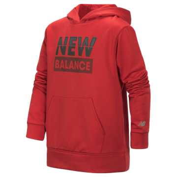 New Balance Graphic Hoodie, Tempo Red