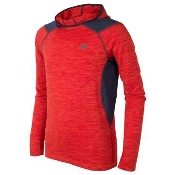 New Balance Hooded LS Performance Tee, Atomic with Thunder