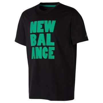 New Balance Short Sleeve Graphic Tee, Black