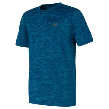New Balance Short Sleeve Performance Tee, Blue Ashes