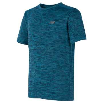 New Balance Short Sleeve Performance Tee, Ozone Blue Glow