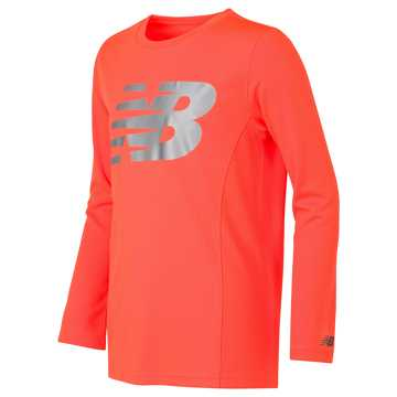 New Balance Long Sleeve Performance Tee, Dynamite