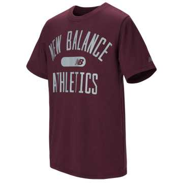 New Balance Short Sleeve Graphic Tee, Burgundy