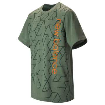 New Balance Short Sleeve Graphic Tee, Olive Green