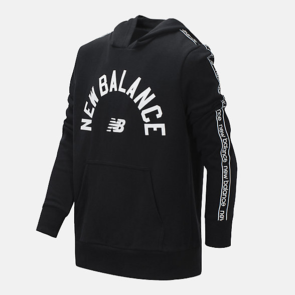 New Balance French Terry Hooded Pullover, BT15444BK