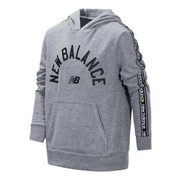 New Balance French Terry Hooded Pullover, Heather Grey