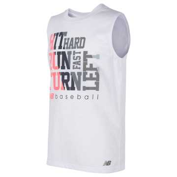 New Balance Sleeveless Graphic Tee, White
