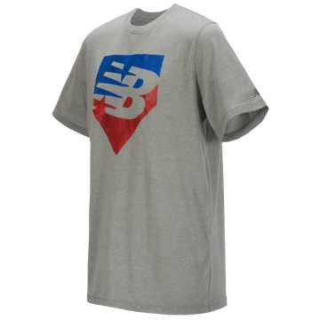 New Balance Short Sleeve Graphic Tee, NB Scarlet