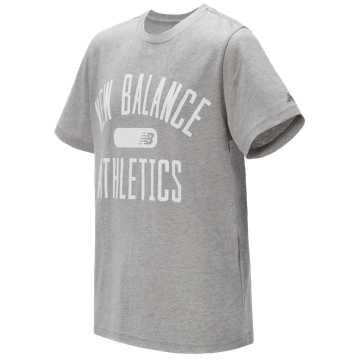 New Balance Short Sleeve Graphic Tee, Grey Heather