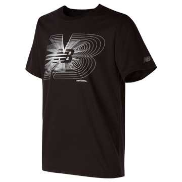 New Balance Short Sleeve Graphic Tee, Black