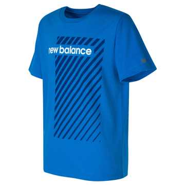 New Balance Short Sleeve Graphic Tee, Laser Blue