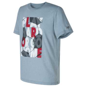 New Balance Short Sleeve Graphic Tee, Sea Glass