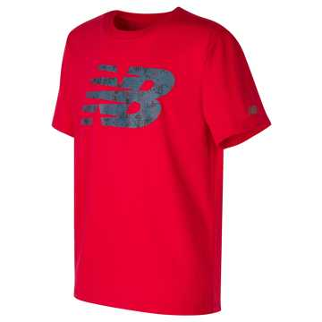 New Balance Short Sleeve Graphic Tee, Team Red