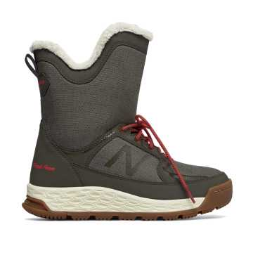 New Balance Fresh Foam 2100 Boot, Olive with Red