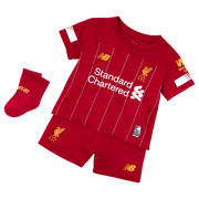 New Balance Liverpool FC Home Baby Kit, Red Pepper with White & Gold