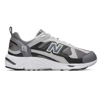 New Balance 878系列男款复古休闲运动鞋, 灰色