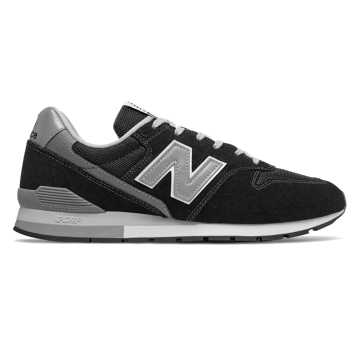 New Balance 996v2, Black with Silver