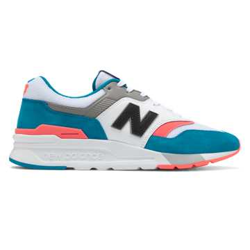 New Balance 997H, Deep Ozone Blue with Guava