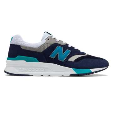 New Balance 997H, Pigment with Neon Aqua Blue