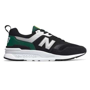 New Balance 997H, Black with Team Forest Green