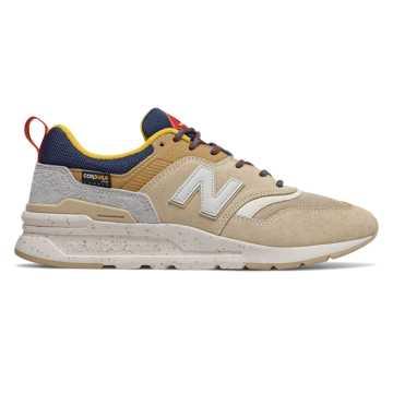 New Balance 997H系列男款复古休闲鞋, 卡其色