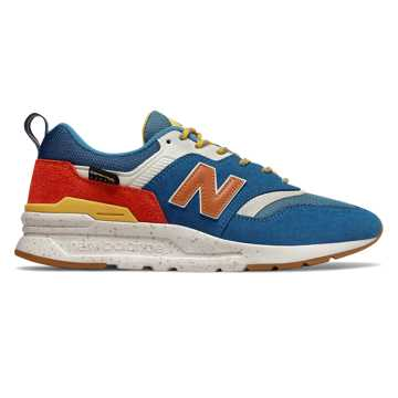 New Balance 997H, Blue with Varsity Orange
