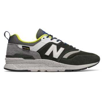 New Balance 997H, Rifle Green with Sulphur Yellow