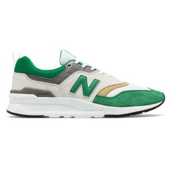 New Balance 997H Celtic FC, White with Green