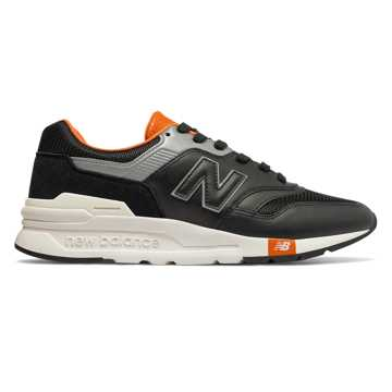 New Balance 997H, Black with Vintage Orange