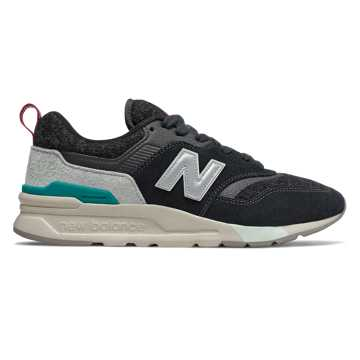 New Balance 997H, Black with Mint Cream