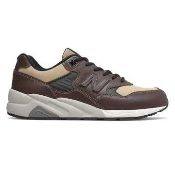 New Balance 580系列男款复古休闲鞋, 咖啡色/米色