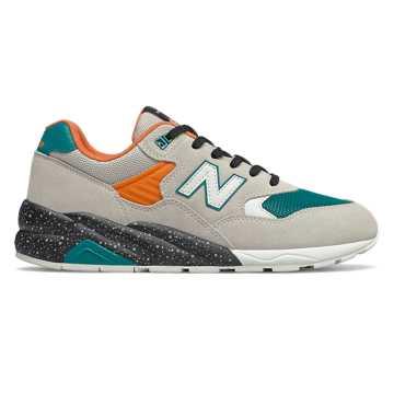 New Balance 余文乐同款580系列户外复古休闲运动鞋, 米色/绿色
