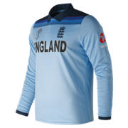 NB We Are England WC19 ODI LS Polo Replica Man, Blue