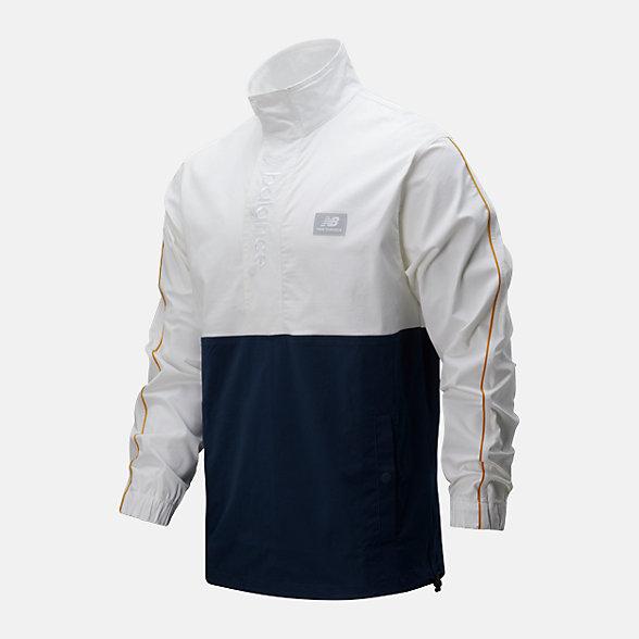 New Balance 男款拼接立领夹克外套, AMJ01562NGO