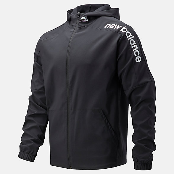 New Balance 男款全拉链运动外套, AMJ11027BK