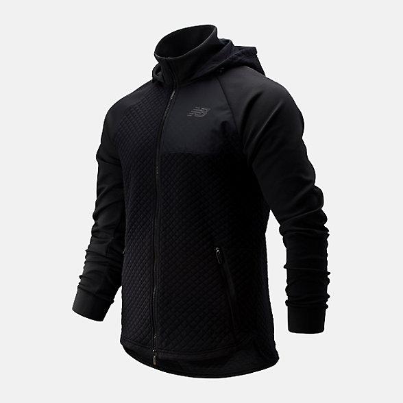 New Balance 男款保暖連帽運動外套, AMJ93001BK