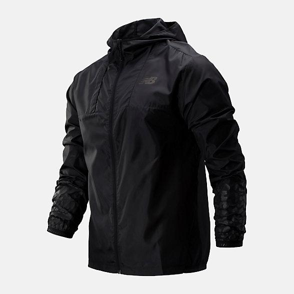New Balance 男款連帽梭織外套, AMJ93241BK