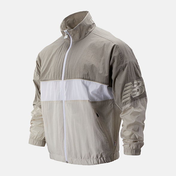 New Balance 男款复古立领梭织外套, AMJ93500WAC