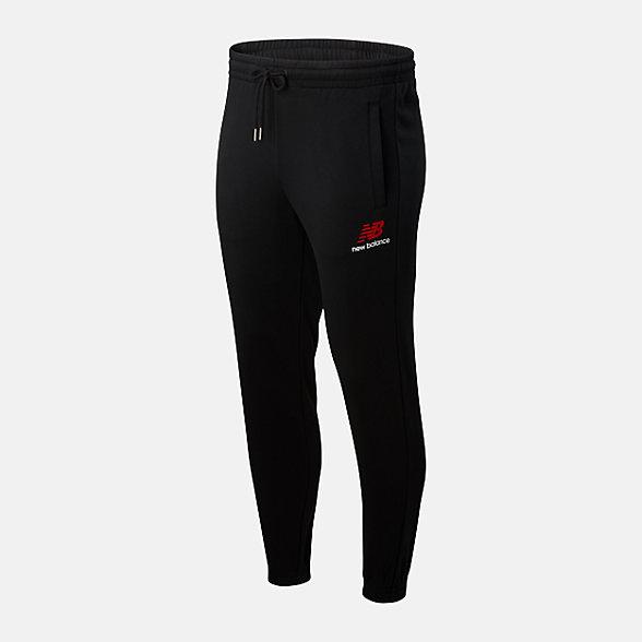 New Balance 男款抽绳束腰针织长裤, AMP01508BK
