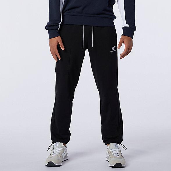 New Balance 男款经典抓绒运动裤, AMP11501BK