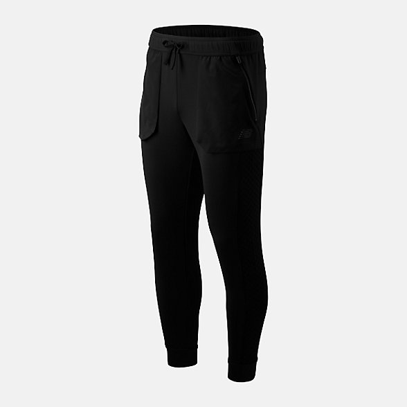 New Balance 男款保暖运动针织长裤, AMP93004BK