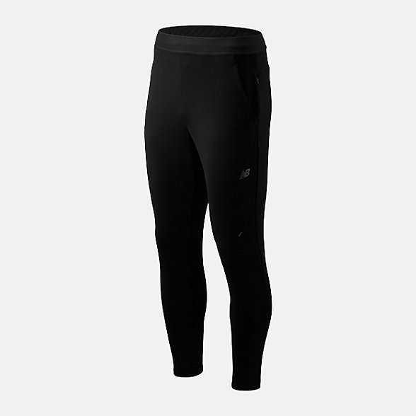New Balance 男款运动保暖针织长裤, AMP93255BK
