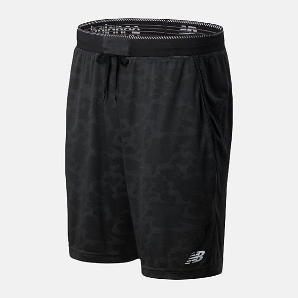 New Balance 男款速干運動短褲, AMS01056BK