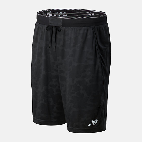 New Balance 男款速干运动短裤, AMS01056BK
