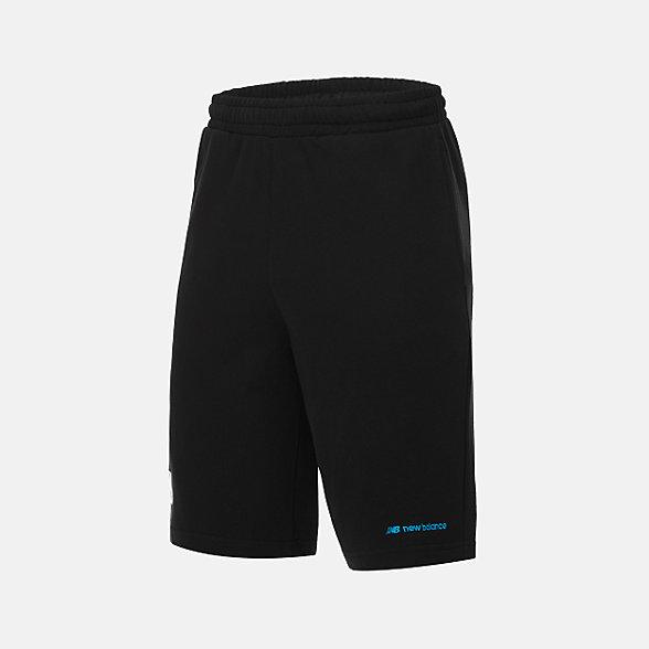 New Balance 男款休闲针织短裤, AMS12369BK