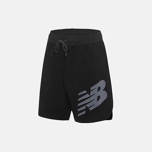 New Balance 男款針織短褲 舒適運動, AMS91016BK