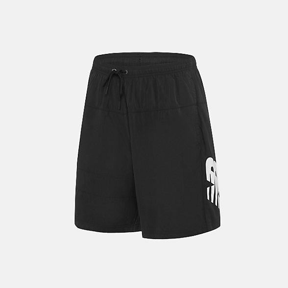 New Balance 男款梭織短褲 舒適百搭, AMS91570BK