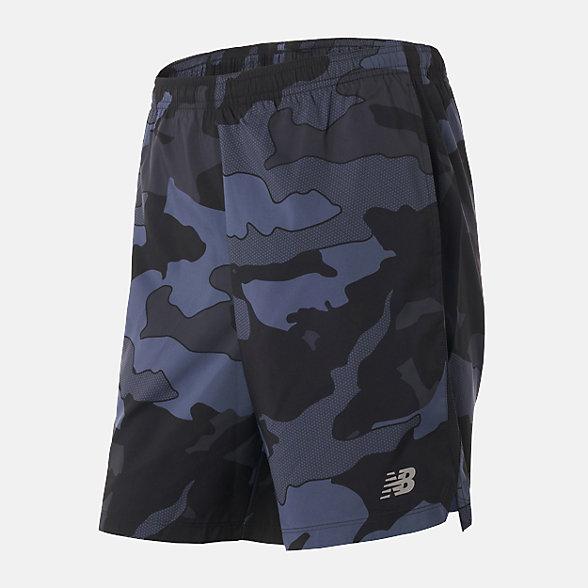 New Balance 男款速干迷彩运动短裤, AMS93198BSL