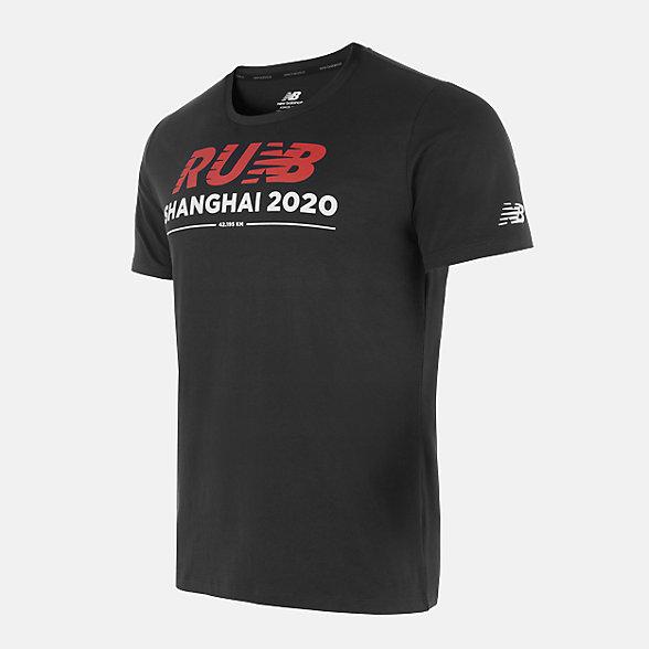 New Balance 马拉松特别款男款短袖T恤, AMT0118OBK